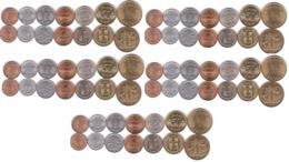 Iceland - 5 Pcs X Set 7 Coins 1 10 10 25 50 Aurar 1 1 Krona 1965 - 1981 AUNC /XF Lemberg-Zp - Iceland