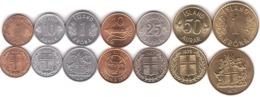 Iceland - Set 7 Coins 1 10 10 25 50 Aurar 1 1 Krona 1965 - 1981 AUNC /XF Lemberg-Zp - Iceland