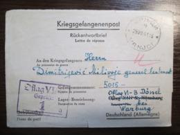 WWII German POW Camp Card Kriegsgefangenenpost Oflag VI/B  Dossel Bei Warburg - Guerre 1939-45