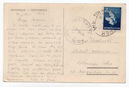 1950 YUGOSLAVIA, SLOVENIA, STT, VUJA, NOVIGRAD-CITTANOVA TO ALEKSINAC, USED ILLUSTRATED POSTCARD - Jugoslawien