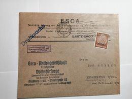 Deutsches Reich  Briefumschlag 1941 Elsass - Lettres & Documents