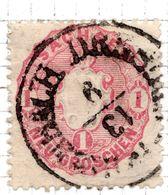 ALLEMAGNE - (Saxe)- 1863-67 - N° 15 - 1 G. Noir S. Rose - (Armoiries) - Sachsen