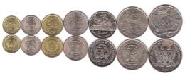 S Tome E Principe - Set 7 Coins 50 Centimos 1 2 5 10 20 50 Dobras 1977-1990 AUNC / XF+ - Sao Tome And Principe