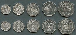 S Tome E Principe - Set 5 Coins 100 250 500 1000 2000 Dobras 1997 UNC Lemberg-Zp - Sao Tome And Principe