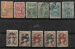 1888-9 Uruguay Hombre-cifras-escudos-s.s.en El 21 Como Aereos 11v Variedades - Uruguay