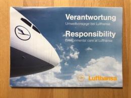 LUFTHANSA Wernatwortung Umweltvorsorge Bei Lufthansa Responsibility Environmental Care At Lufthansa September 2009 - Advertisements