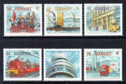 2016 Guernsey Mail History Ships Horses Trucks Complete Set Of 6 MNH @ Below Face Value - Guernsey