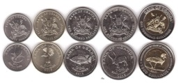 Uganda - Set 5 Coins 50 100 200 500 1000 Shilingi 2007 - 2015 UNC Lemberg-Zp - Uganda