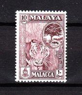 Malaya  - 1960. Testa Di Tigre. Tiger. MNH Fresh - Felini