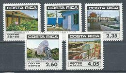Costa Rica Poste Aérienne YT N°845-846-849-850-852 Développement économique Et Progrès Social Neuf ** - Costa Rica