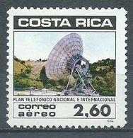 Costa Rica Poste Aérienne YT N°850 Téléphone National Et International Neuf/charnière * - Costa Rica