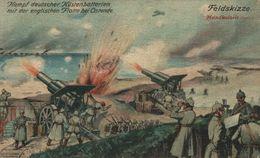OOSTENDE FELDPOST Kampf Deutscher Küstenbatterien Mit Der Englischen Flotte Bei Ostende 1914/15 WWI WWICOLLECTION - Oostende