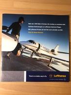 LUFTHANSA PRIVAT JET Mehr Als 1.000 Ziele In Europa, Die Nonstop Zu Erreichen Sind. Nahtlose Verbindungen Zu Lufthansa - Advertisements