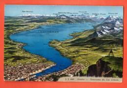 IKC-21  Panorama De Genève Et Lac Léman. Géodésie Point Trigonométrique Sur Salève. Jullien 4347 Non Circulé - GE Genève