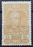 AUSTRIA 1910 - MLH - ANK 165 - 6h - 1850-1918 Empire