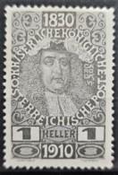 AUSTRIA 1910 - MLH - ANK 161 - 1h - 1850-1918 Empire