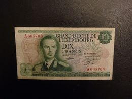 Billet 10 Francs 1967 Luxembourg - Luxemburgo