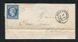 Rare Lettre De Saulx De Vesould ( Haute Saône 1859 )  Pour Vesoul - Cachet PC 2827 - 1849-1876: Période Classique
