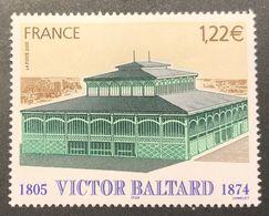 Variété Pavillon Baltard N°3824a (Maury N° 3810a) - Sans Bande Phosphore  - RARE - Errors & Oddities
