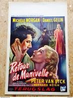 RETOUR DE MANIVELLE»Michèle Morgan-Daniel Gelin 1957 AFFICHE ORIGINALE - Affiches & Posters