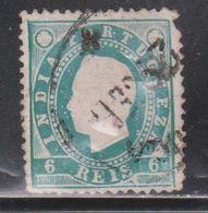 PORTUGUESE INDIA Scott # 176 Used - King Luiz - Faults - Inde Portugaise