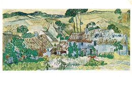 Van Gogh View At Auvers 1890 Vintage Tate Gallery Painting Postcard - Peintures & Tableaux