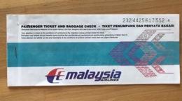 MALAYSIA AIRLINES TICKET 19NOV99 OPEN JAW FRANKFURT KULA LUMPUR LANGKAWI KUALA LUMPUR MUNICH - Tickets