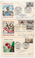 SENEGAL - 6 Enveloppes FDC 1961/1962 Ayant Voyagé Pour Algérie - Senegal (1960-...)