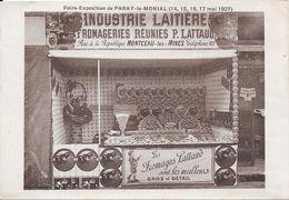 Foire-Exposition De PARAY-le-MONIAL (14,15,16,17 Mai 1927) Industrie Laitière De Montceau Les Mines  P. LATTAND - Paray Le Monial