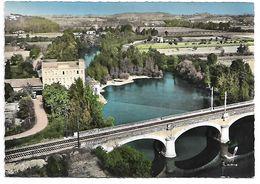 82 - ALBIAS - En Avion Au Dessus De ... - Le Moulin Et Le Pont Du Chemin De Fer - Albias