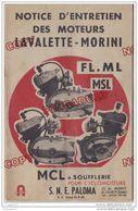 Au Plus Rapide Notice Entretien Moteur Lavalette Morini FL ML MSL 24 Pages - Motos