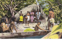 CAYENNE , Visite Amicale D'indiens,des SEINS NUS - Cayenne