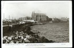 Palma De Mallorca Paseo De La Riba Y Catedral Guilera Coin Supérieur Gauche Plié Esquina Superior Doblada A La Izquierda - Palma De Mallorca