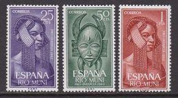 RIO MUNI 1962 - Serie Completa Nueva Sin Fijasellos Edifil Nº 29/31 - MNH - - Ríu Muni