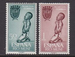 RIO MUNI 1963 - Serie Completa Nueva Sin Fijasellos Edifil Nº 40/41 - MNH - - Ríu Muni