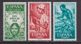 RIO MUNI 1965 - Serie Completa Nueva Sin Fijasellos Edifil Nº 60/62 - MNH - - Ríu Muni
