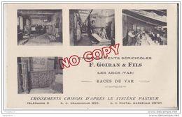 Au Plus Rapide Les Arcs Goiran Sériculture Ver à Soie Carte Postale + Lettre + Bon De Commande Pour Monzini Milan - Les Arcs