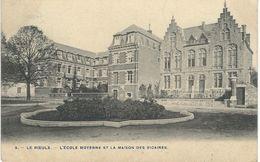 3. - LE ROEULX : L'Ecole Moyenne Et La Maison Des Vicaires - Cachet De La Poste 1906 - Le Roeulx