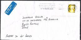 Gran Bretagna 2020 Air Mail X L'italia Queen Elizabeth - Covers & Documents