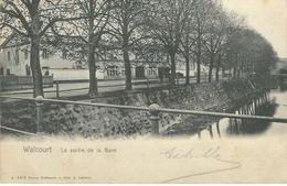 WALCOURT : La Sortie De La Gare - Cachet De La Poste 1905 - Walcourt