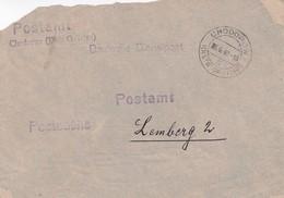 GG: Postsache Postamt Chodorow/Galizien Nach Lemberg, Vorderseite - Besetzungen 1938-45