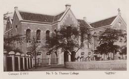 Curacao 1929: Post Card St. Thomas College To Amsterdam - Niederländische Antillen, Curaçao, Aruba