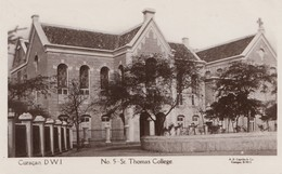 Curacao 1929: Post Card St. Thomas College To Amsterdam - Curaçao, Antilles Neérlandaises, Aruba