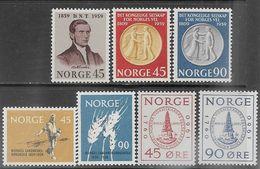 Norway   1959-60    Sc#375-81 Sets MNH  2016 Scott Value $10.55 - Unused Stamps