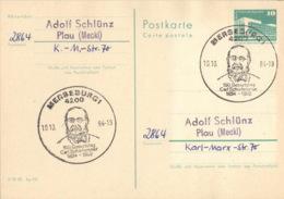 DDR Ganzsache Mit Sonderstempel Merseburg Carl Schorlemmer 1984 - Marcophilie - EMA (Empreintes Machines)
