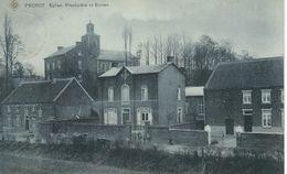 PECROT : Eglise. Presbytere Et Ecoles - Cachet De La Poste 1907 - Grez-Doiceau
