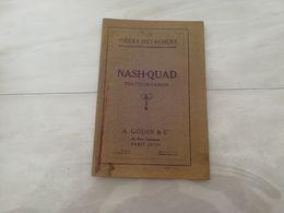 18861-M-  CATALOGUE 16X23CM 64 PAGES PIECES DETACHEES NASH-QUAD TRACTEUR-CAMION GODIN PARIS - Publicités