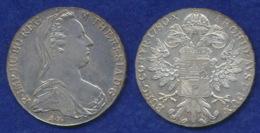 Österreich 1 Thaler 1780 Maria Theresia Ag900 28g Replik - Oesterreich