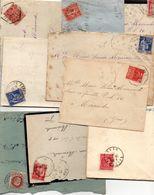 Lot De 10  Lettres & Une Carte Lettre   Périodes  1928 à 1945 Pour Mlle Moncade Passage à Niveau 86 à Mirande ... - Alte Papiere