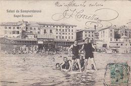SAMPIERDARENA-GENOVA-BAGNI BOZZANO-BELLA CARTOLINA  VIAGGIATA IL 20-5-1908 - Genova (Genoa)